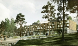 Sanatorium Uzdrowiskowe August�w - Wizualizacja nowego budynku - sanatoria.org